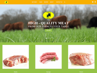 Tinks Beef Homepage Screenshot